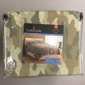 Cuddl Duds Camouflage Queen Flannel Sheet Set